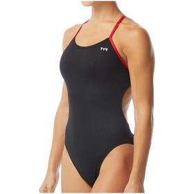 TYR Hexa Cutoutfit Swimsuit Women, nero/rosso